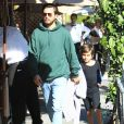 Scott Disick est allé déjeuner avec son fils Mason au restaurant Il Pastaio à Beverly Hills, le 22 novembre 2016