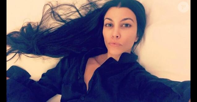 Kourtney Kardashian se montre au naturel sur une photo publiée sur Instagram le 25 novembre 2016