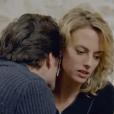 """Coralie lors d'une scène de viol conjugal dans """"Plus belle la vie"""", sur France 3. Le 25 février 2016."""