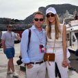 Ronan Keating et sa femme Storm lors du Grand Prix de Formule 1 de Monaco, le 28 mai 2016. © Bruno Bebert/Bestimage