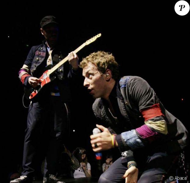 Coldplay en concert à Londres le 14 décembre 2008