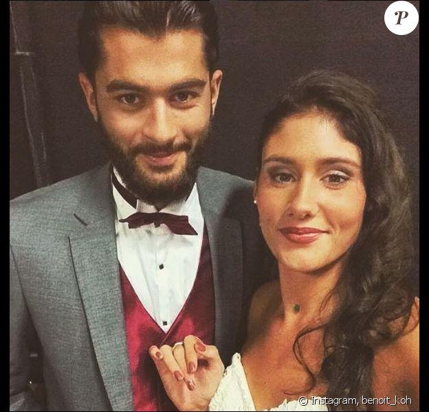 """Benoit et Jesta de """"Koh-Lanta, L'île au trésor"""", en tenue de mariage, octobre 2016, sur Instagram"""