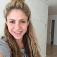 Shakira se montre sans maquillage sur Instagram en févier 2016.