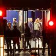 Illustration à l'extérieur lors de le réouverture de la salle de spectacles Le Bataclan avec le concert du chanteur Sting à Paris, le 12 novembre 2016 à la veille du premier anniversaire des attentats du 13 novembre 2015.