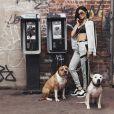 Kylie Jenner pose pour la nouvelle collection Puma en daim Kylie Jenner le 2 novembre 2016
