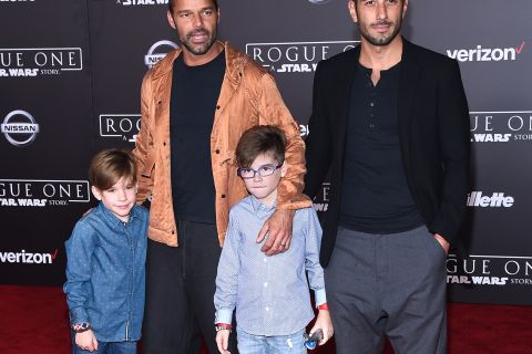 Ricky Martin : Soirée Rogue One avec ses enfants et son fiancé