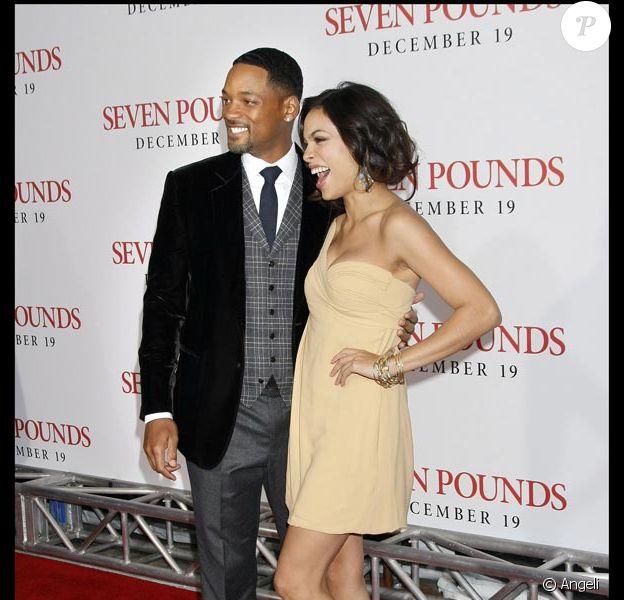 Will Smith et Rosario Dawson