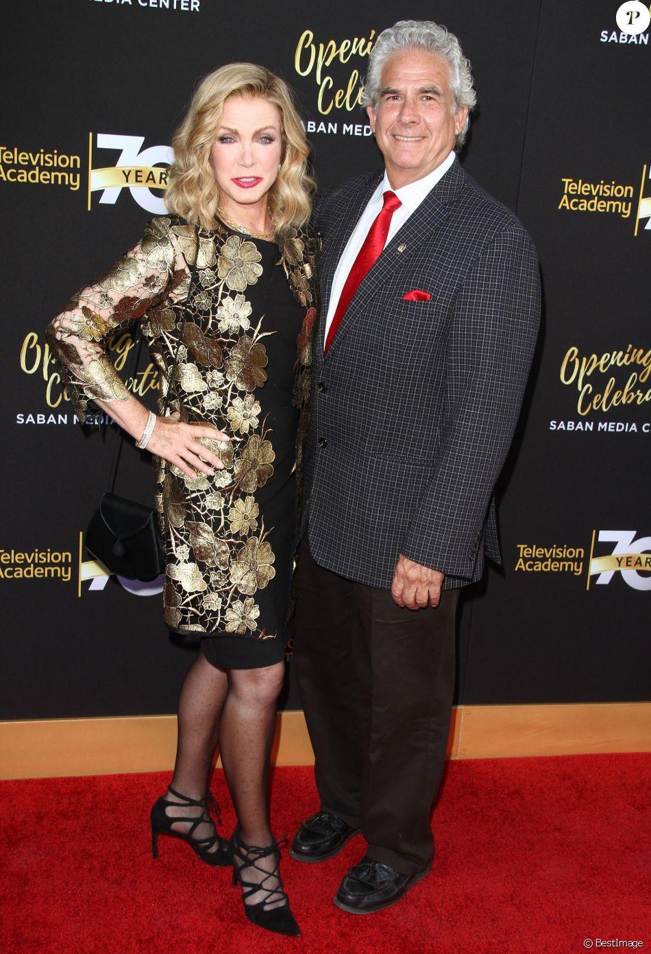 Donna Mills et son compagnon Richard Holland au 70ème gala d'anniversaire de Television Academy à Los Angeles, le 2 juin 2016