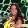 Miss Tahiti 2016 : Vaea Ferrand -  Les 12 demi-finalistes défilent en bikini.   Concours Miss France 2017. Sur TF1, le 17 décembre 2016.