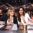 Michèle Bernier et Malika Ménard - Le jury de Miss France 2017. TF1, 17 décembre 2016.