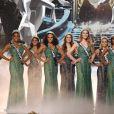 Les 12 demi-finalistes du concours Miss France 2017. Sur TF1, le 17 décembre 2016.