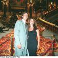 David Ginola et sa femme Coraline au Ritz, à Paris, le 5 juillet 1995.