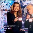 Gilles Boulleau et  Anne-Claire Coudray dans le clip de fin d'année de TF1