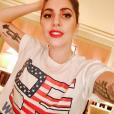 Lady Gaga expose ses tatouages sur les réseaux sociaux. Photo publiée sur Instagram au mois de novembre 2016