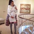 Jordan Craig, l'ex-compagne de Tristan Thompson, enceinte de leur bébé alors qu'il sort avec Khloé Kardashian. Photo publiée sur Instagram au mois de décembre 2016