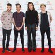Liam Payne, Louis Tomlinson, Harry Styles et Niall Horan (du groupe One Direction) à la Soirée des BBC Music Awards 2015 à Birmingham. Le 10 décembre 2015