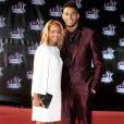 """Estelle Mossely et son fiancé Tony Yoka à la 18ème cérémonie des """"NRJ Music Awards"""" au Palais des Festivals à Cannes, le 12 novembre 2016."""