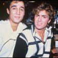 George Michael et Andrew Ridgeley à Londres en 1984