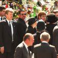"""""""George Michael et Elton John aux funérailles de la princesse Diana le 5 septembre 1997 à Londres."""""""