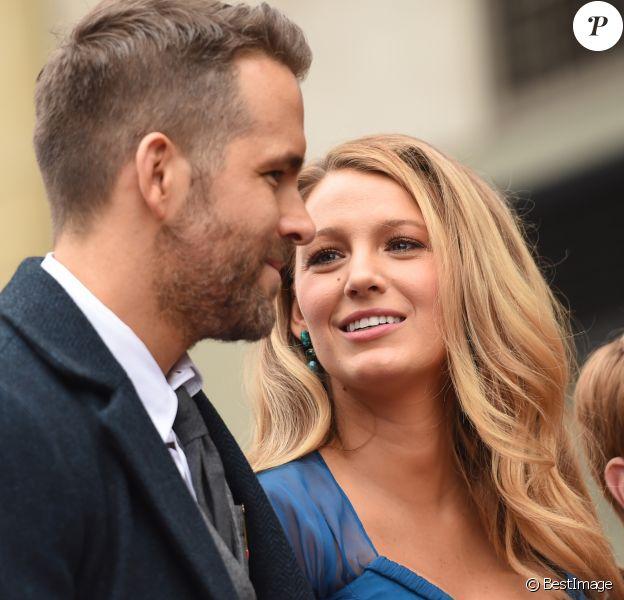Ryan Reynolds et sa femme Blake Lively - Ryan Reynolds reçoit son étoile sur le Walk of Fame à Hollywood, le 15 décembre 2016