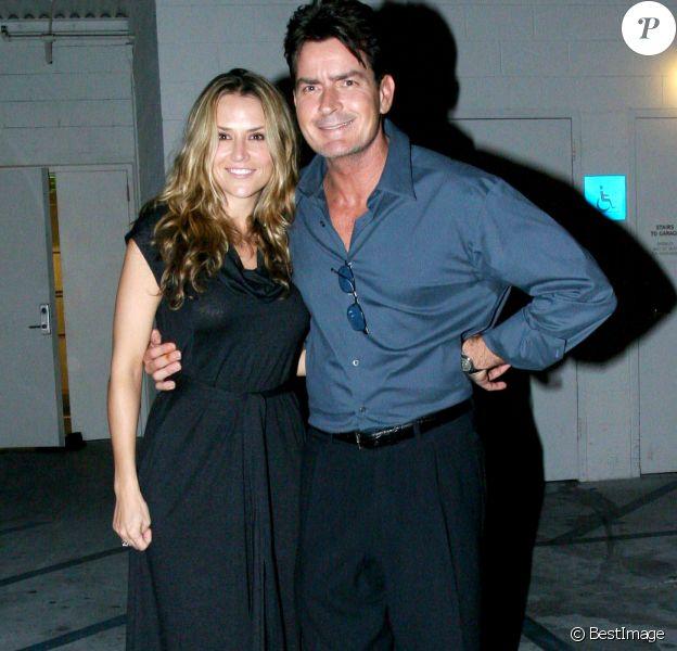 Charlie Sheen et Brooke Mueller au restaurant Paley Media à Los Angeles, le 3 octobre 2007