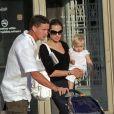 Angelina Jolie et Brad Pitt avec leurs enfants en 2007 à Chicago.