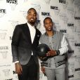 J.R. Smith, Victor Cruz lors de l'événement Maybelline X MADE Tipoff à New York le 13 février 2015