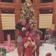 Le basketteur J.R. Smith, sa femme enceinte, ainsi qu'une de leurs filles. Photo publiée sur Instagram en décembre 2016