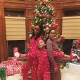 Jewel, la femme du basketteur J.R. Smith, enceinte, avec ses deux filles. Photo publiée sur Instagram en décembre 2016