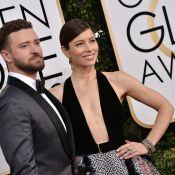 Justin Timberlake : Aimanté par sa belle Jessica Biel et son décolleté XXL