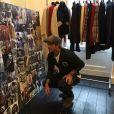 """""""David Beckham dans les coulisses de la présentation de la collection automne-hiver 2017-18 de Kent & Curwen. Londres, le 8 janvier 2017."""""""