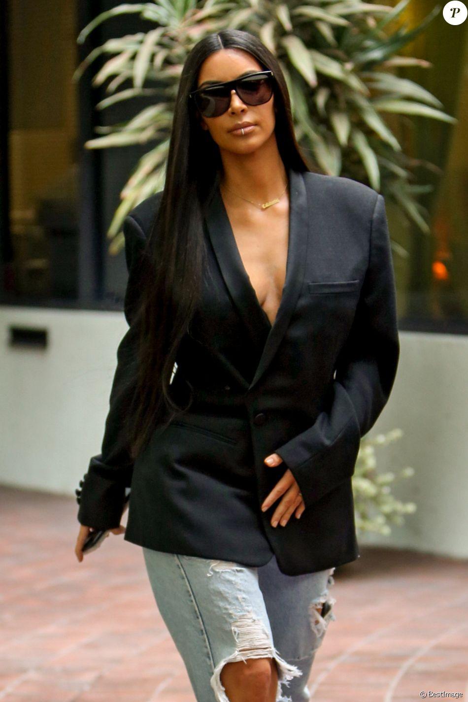 Kim Kardashian s'est rendue chez le médecin à Los Angeles, le 5 janvier 2017.