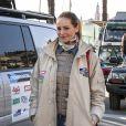 Adriana Karembeu est la marraine de la 9 ème édition de l'Africa Eco Race 2017, un rallye au départ de Monaco pour Dakar. Ici, elle est à Menton où les concurrents passent aux vérifications techniques et administratives, le 30 décembre 2016. Les concurrents sont attendus le 14 janvier 2017 à Dakar après avoir pris le départ de Monaco le 31 décembre et traversés le Maroc, la Mauritanie et le Sénégal. © Patrick Varotto / Bestimage