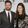 """""""Justin Timberlake et sa femme Jessica Biel lors de la première du film """"Book of Love"""" au Grove à Los Angeles, Californie, Etats-Unis, le 10 janvier 2016."""""""