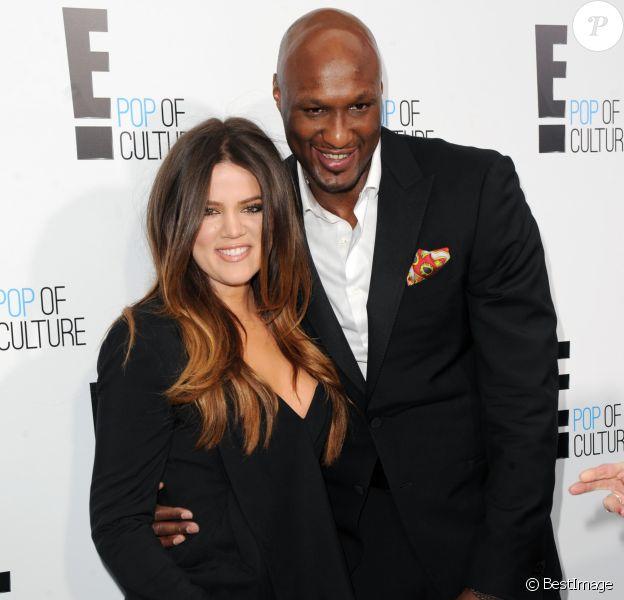 """Khloé Kardashian, Lamar Odom - Soirée """"E!pop Culture"""", à New York le 30 avril 2012."""