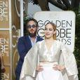 Jemima Kirke et son mari Michael Mosberg - La 72ème cérémonie annuelle des Golden Globe Awards à Beverly Hills, le 11 janvier 2015.