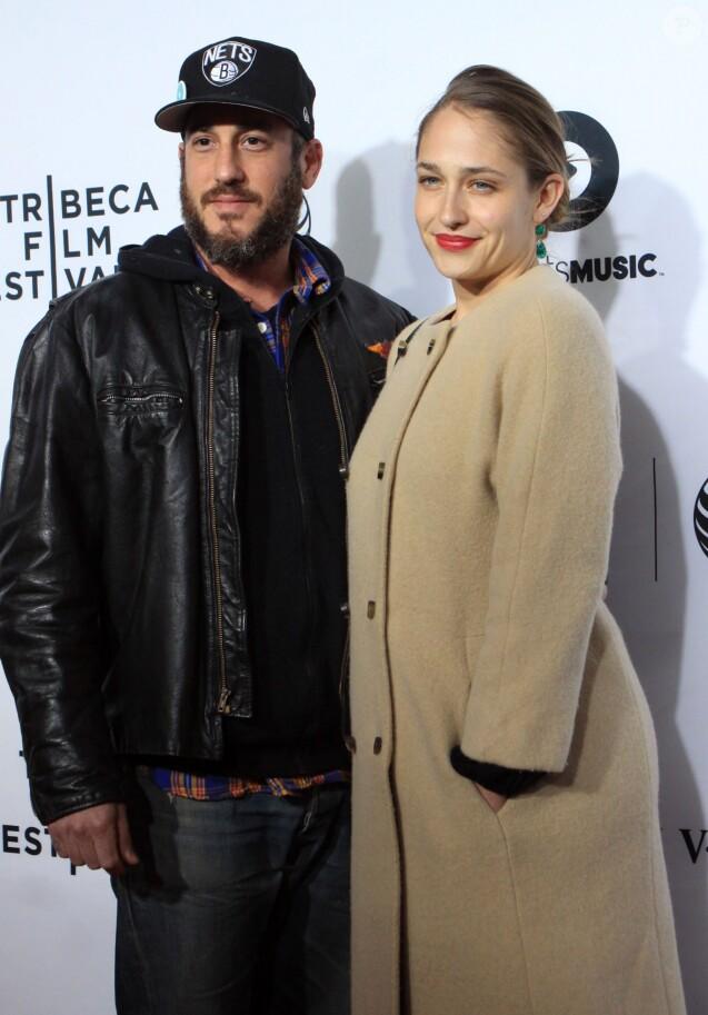 """Jemima Kirke, Michael Mosberg - Première du film """"Time Is Illmatic"""" lors de l'ouverture du Festival du film de New York, le 16 avril 2014."""