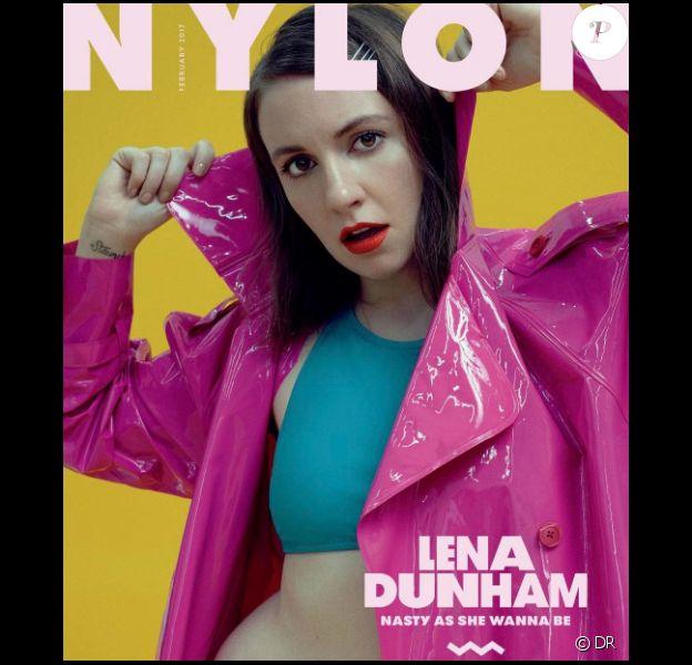 Lena Dunham fait la couverture du magazine Nylon en janvier 2017