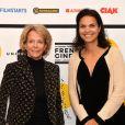 """Frédérique Bredin (présidente du CNC) et Isabelle Giordano - Photocall de la soirée de lancement de """"My French Film Festival"""" à l'Automobile Club à Paris, le 13 janvier 2017. © Veeren/Bestimage"""