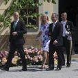 Fredrik Reinfeldt, Jan et Anette Dinkelspiel - Baptême de la princesse Leonore à Stockholm en Suède le 8 juin 2014.