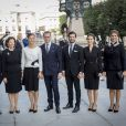 Le roi Carl XVI Gustaf de Suède, la reine Silvia, la princesse Victoria, le prince Daniel, le prince Carl Philip, la princesse Sofia et la princesse Madeleine à la session d'ouverture du Parlement à Stockholm le 13 septembre 2016