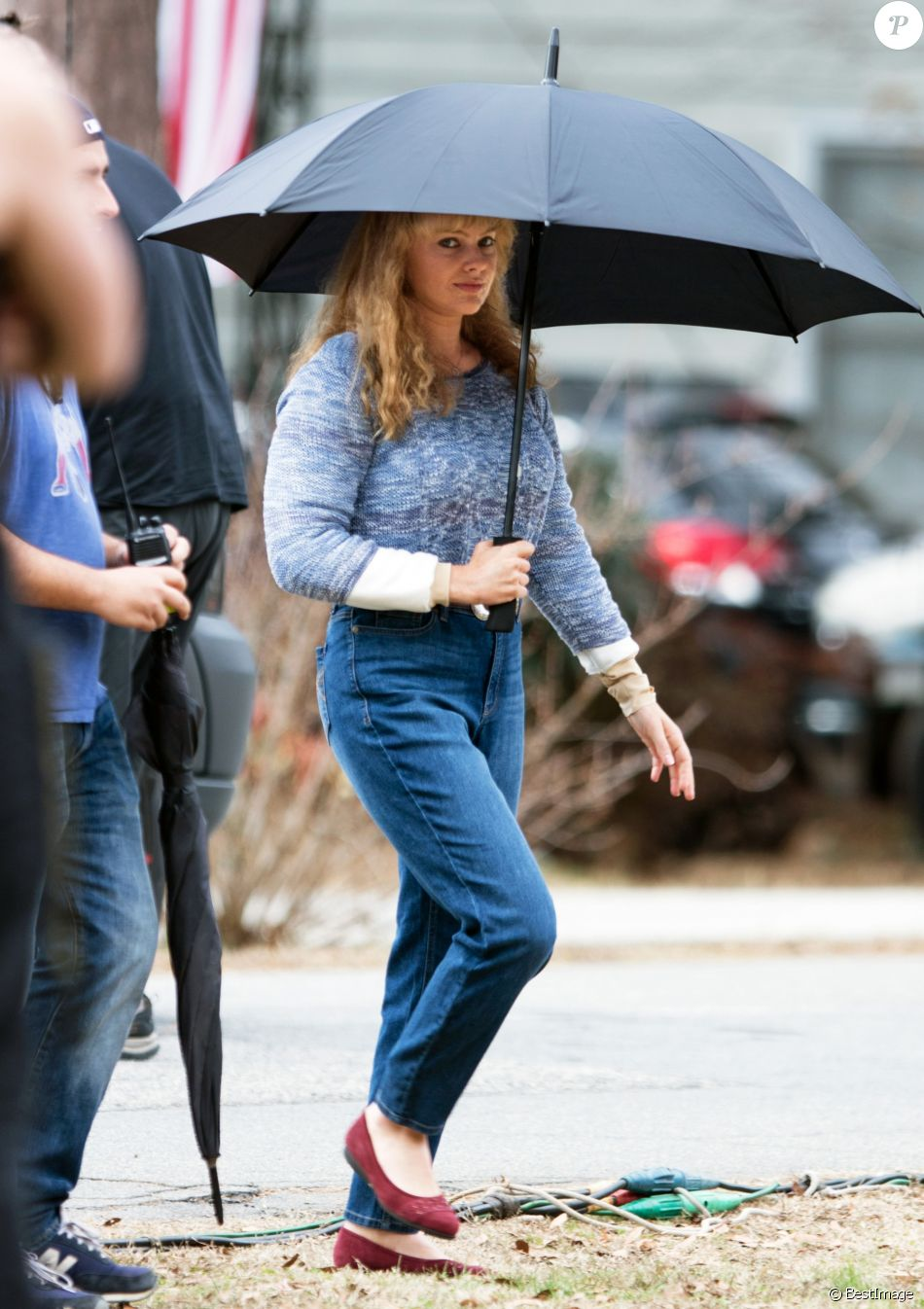 Exclusif - Margot Robbie sur le tournage du film 'I,Tonya' à Atlanta en Georgie. Le film est un biopic sur la sulfureuse patineuse américaine Tonya Harding. Le 16 janvier 2017