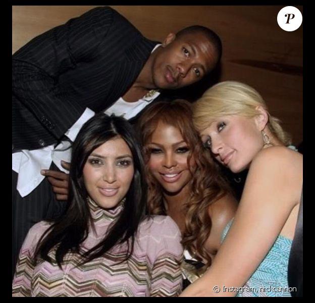 Kim Kardashian et sa BFF Paris Hilton à l'époque où Kim sortait avec Nick Cannon. Photo datée de 2006