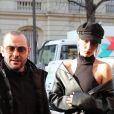 Bella Hadid arrive à la maison de couture Givenchy à Paris, à l'occasion de la fashion week. Le 20 janvier 2017 © Cyril Moreau / Bestimage
