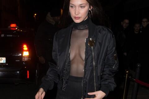 Bella Hadid et Kendall Jenner en totale transparence à Paris malgré le froid