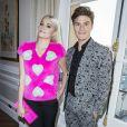 Pixie Lott et son fiancé Oliver Cheshire- Défilé Schiaparelli, collection Haute Couture printemps-été 2017 à Paris. Le 23 janvier 2017. © Olivier Borde / Bestimage