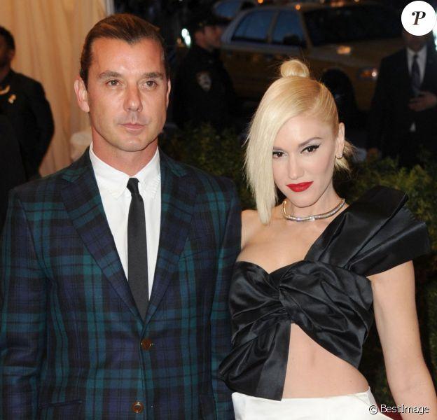 Gwen Stefani et Gavin Rossdale assistent au Met Gala 2013 à New York. Le 6 mai 2013.