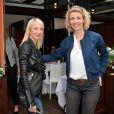 Audrey Lamy et sa soeur et Alexandra Lamy - Jour 8 - People au Village lors des Internationaux de France de tennis de Roland Garros le 2 juin 2013.