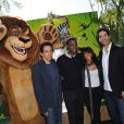 Ben Stiller, Chris Rock, Jada Pinkett-Smith et David Schwimmer pour la promotion de leur film Madagascar 2