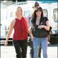 Jenny Garth et Shannen Doherty sur le tournage de 90120